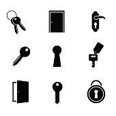 Door icon set.