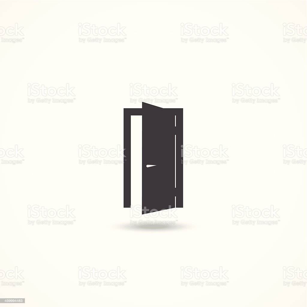 Door icon vector art illustration