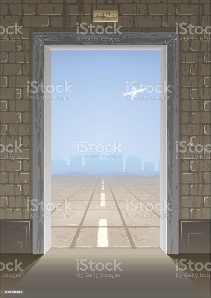 Door into summer 2.0 vector art illustration