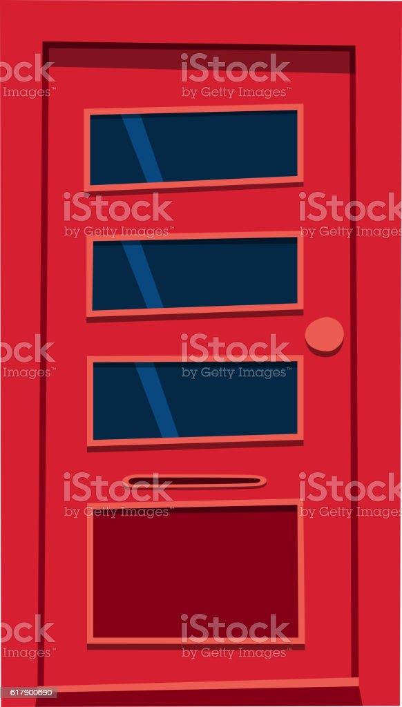 Door isolated vector illustration. vector art illustration
