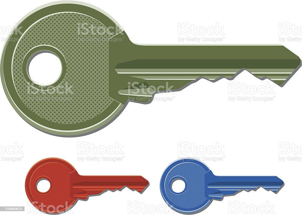 Door Keys royalty-free stock vector art