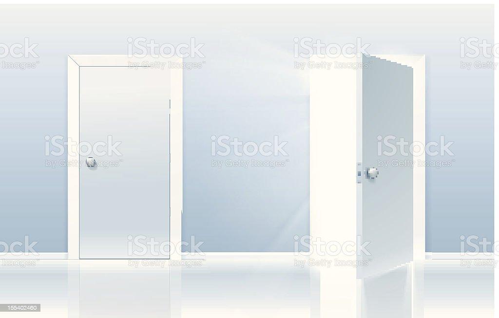 Door of opportunity vector art illustration