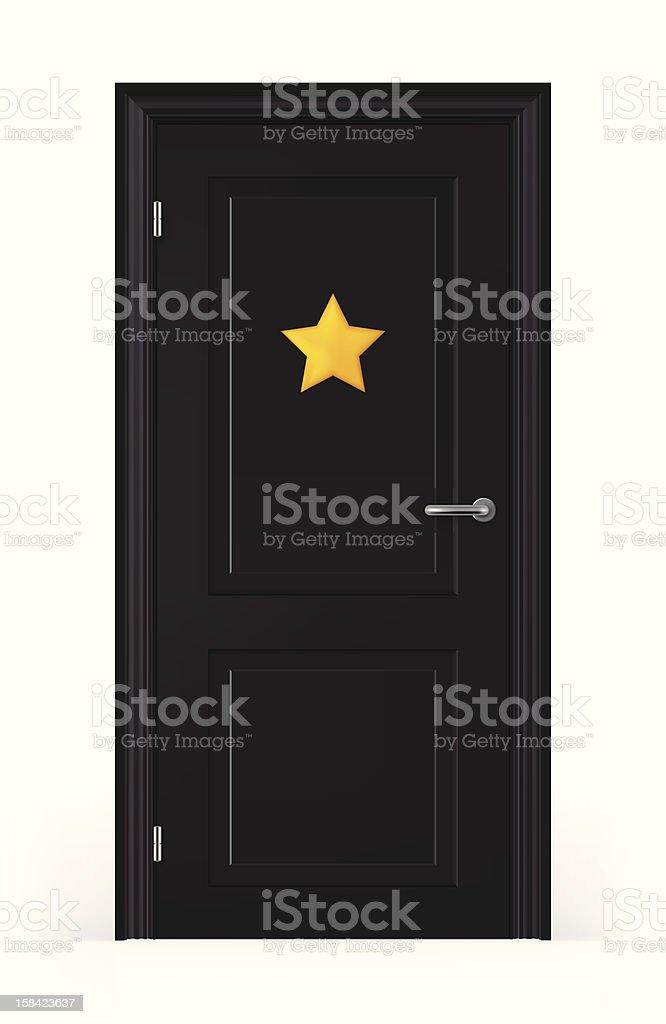Door Of Star's Dressing Room vector art illustration