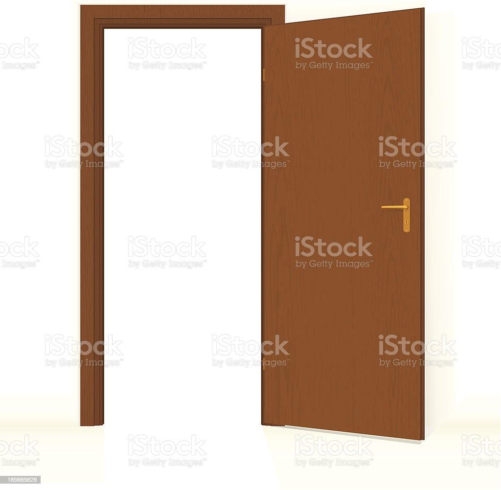 Door Opened royalty-free stock vector art