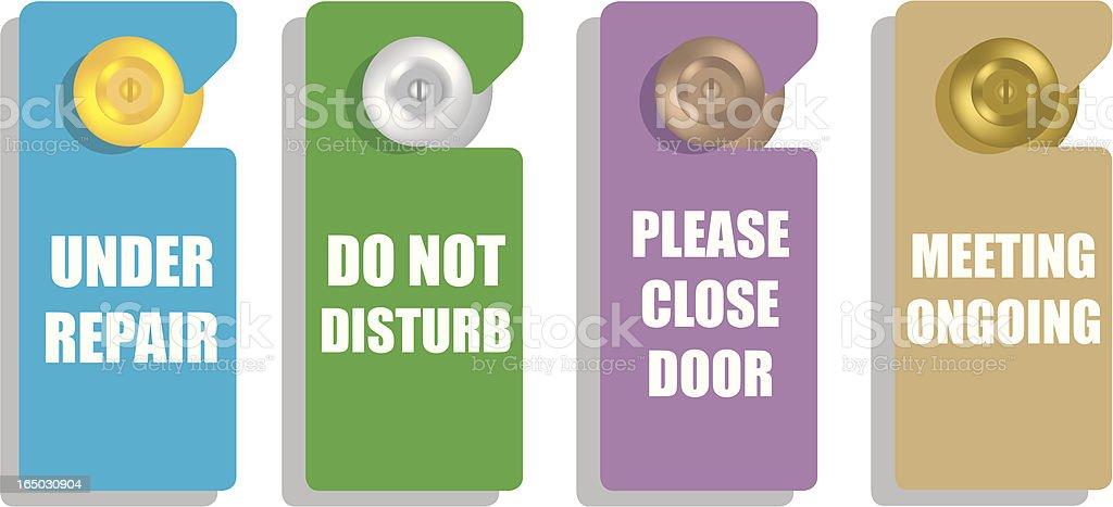 door signs royalty-free stock vector art