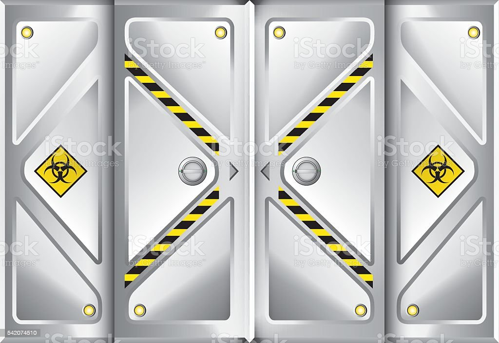 Door Space Ship Background. Vector Illustration vector art illustration