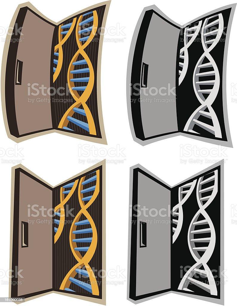 Door to DNA royalty-free stock vector art