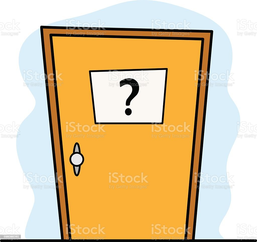 Door to the Unknown vector art illustration