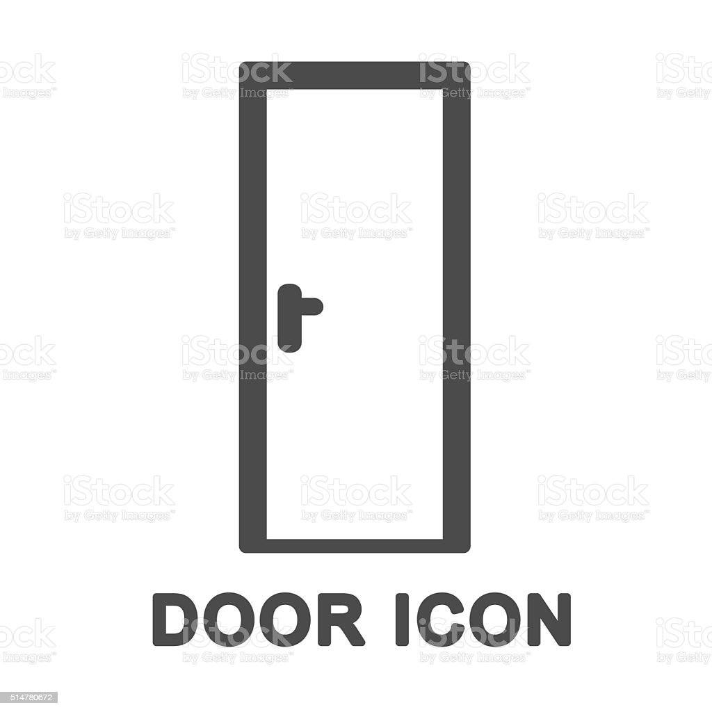 Door Vector Icon vector art illustration