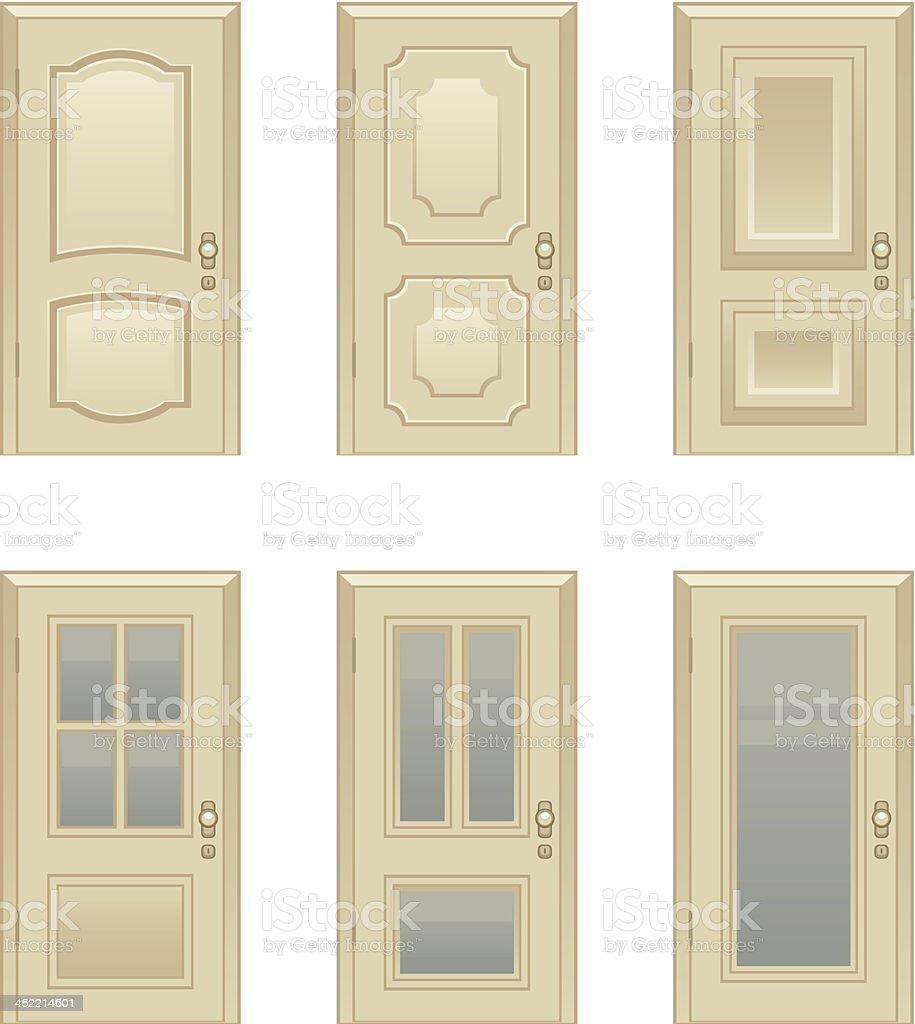 Door royalty-free stock vector art