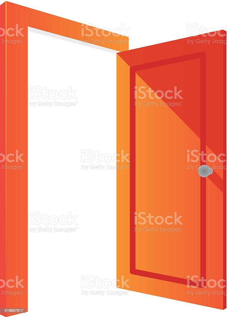 Door vector art illustration