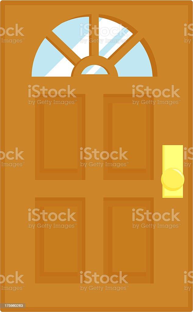 Door with window vector art illustration