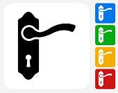 Doorknob Icon Flat Graphic Design