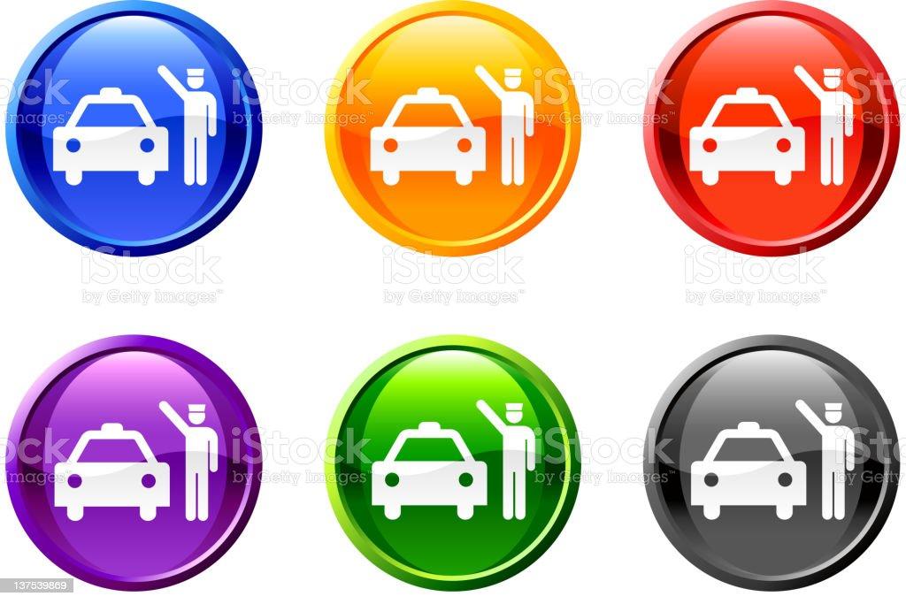 Doorman taxi button royalty free vector art royalty-free stock vector art