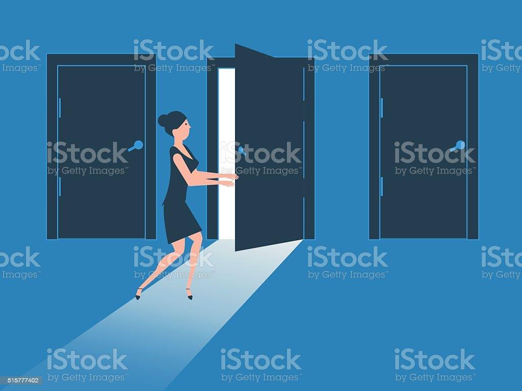 Doors, Decisions,Choices vector art illustration
