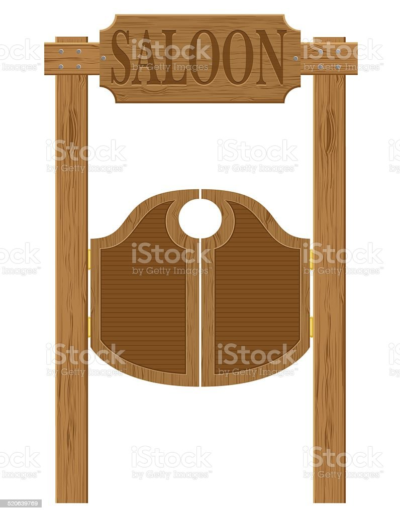 ... doors in western saloon wild west vector illustration vector art illustration ...