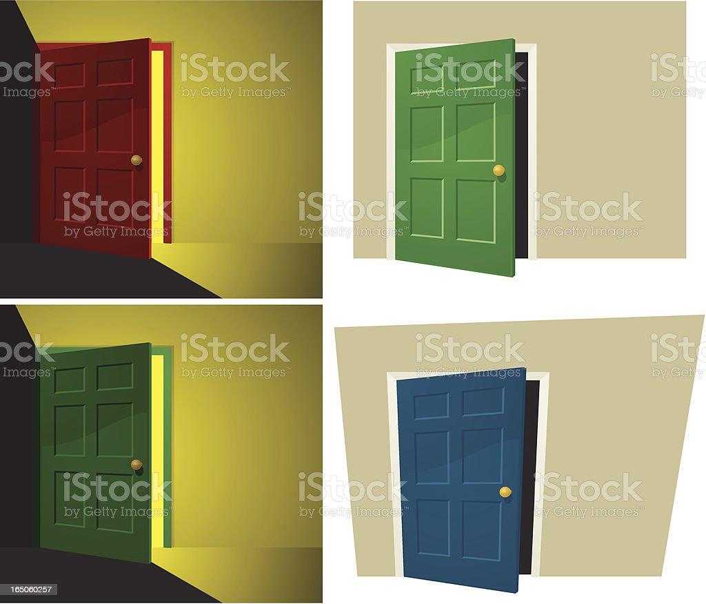 Doors vector art illustration