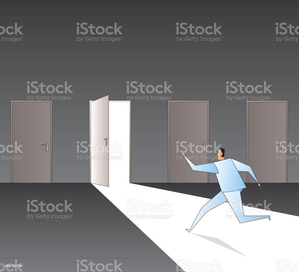 Doorway vector art illustration