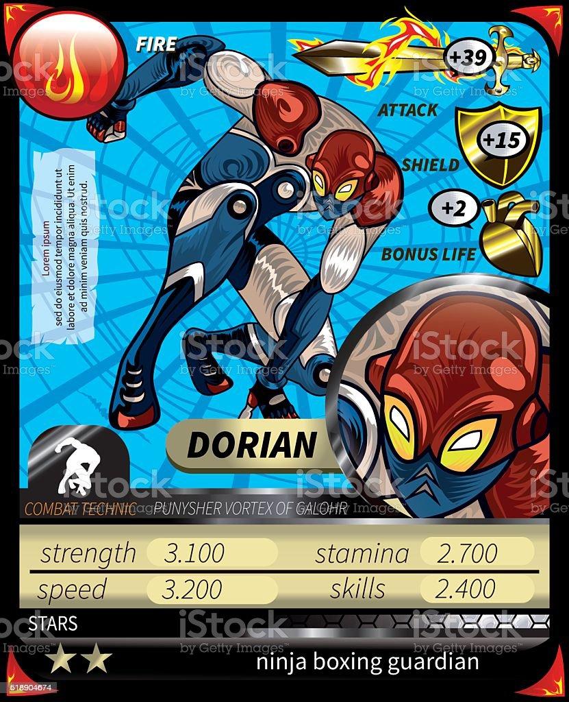 Dorian_Card vector art illustration
