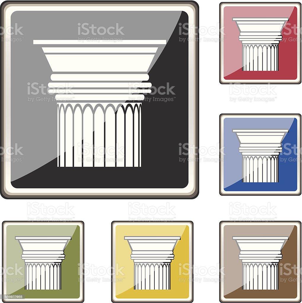 Doric Column Buttons royalty-free stock vector art