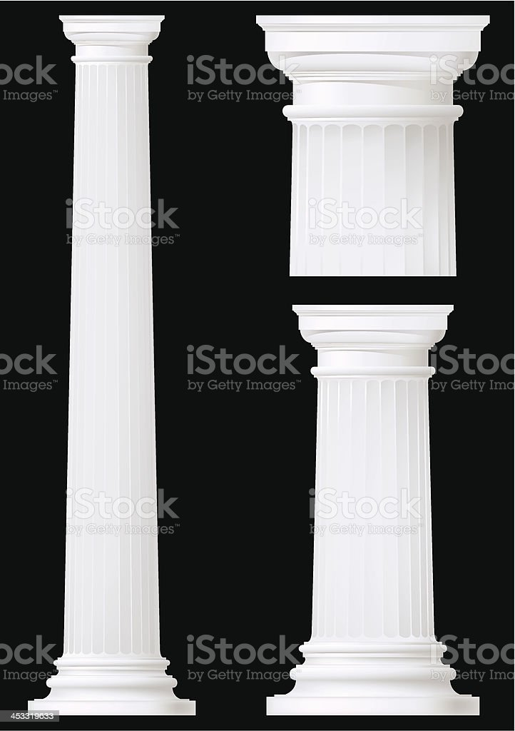 doric column set vector art illustration