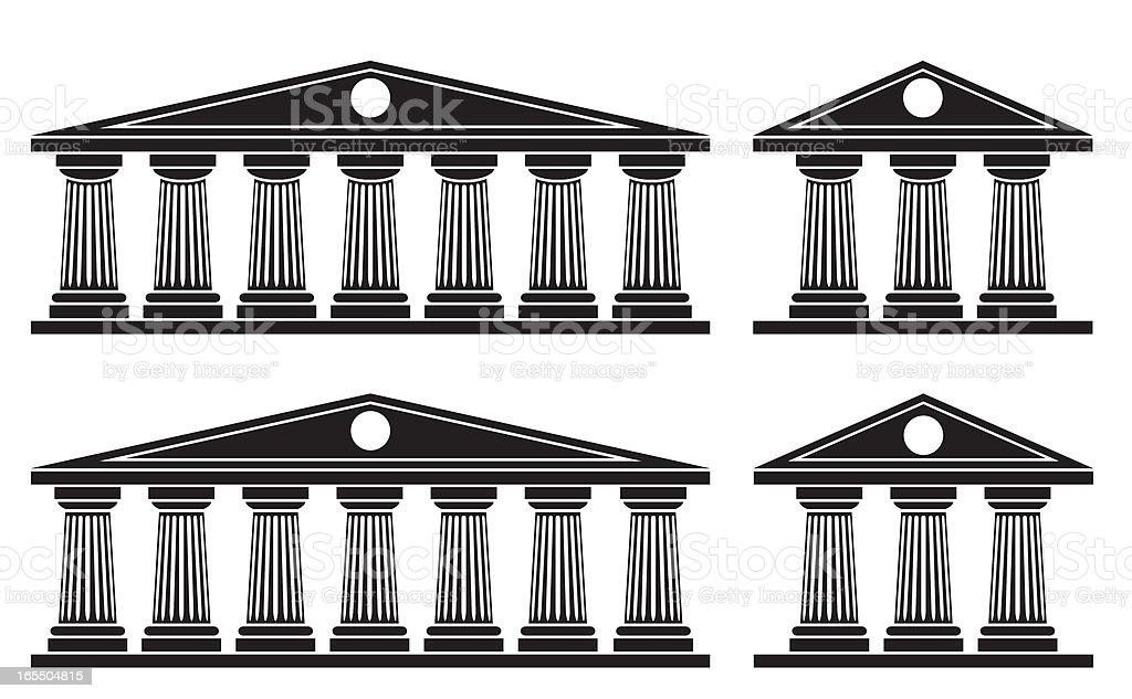 Doric Columns royalty-free stock vector art