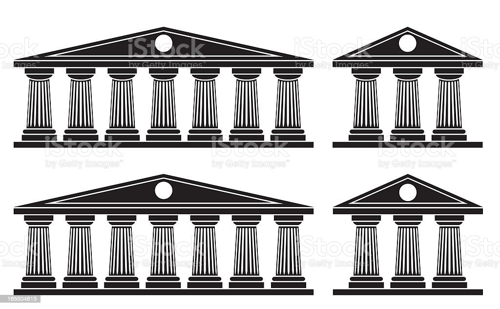 Doric Columns vector art illustration
