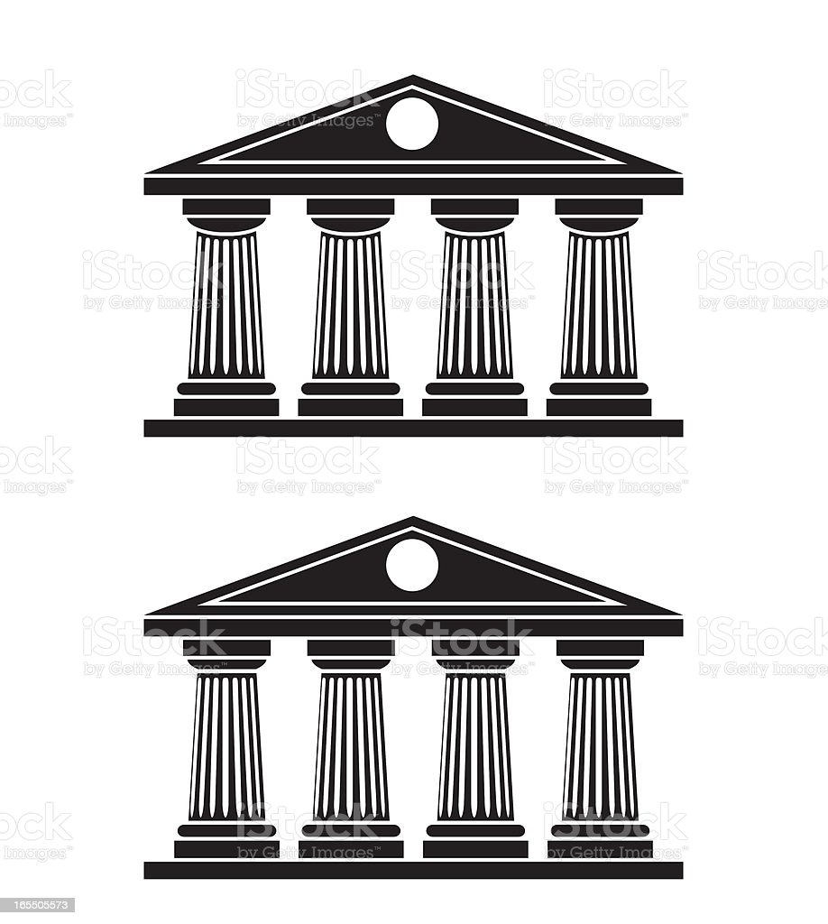 Doric Columns vector art illustration