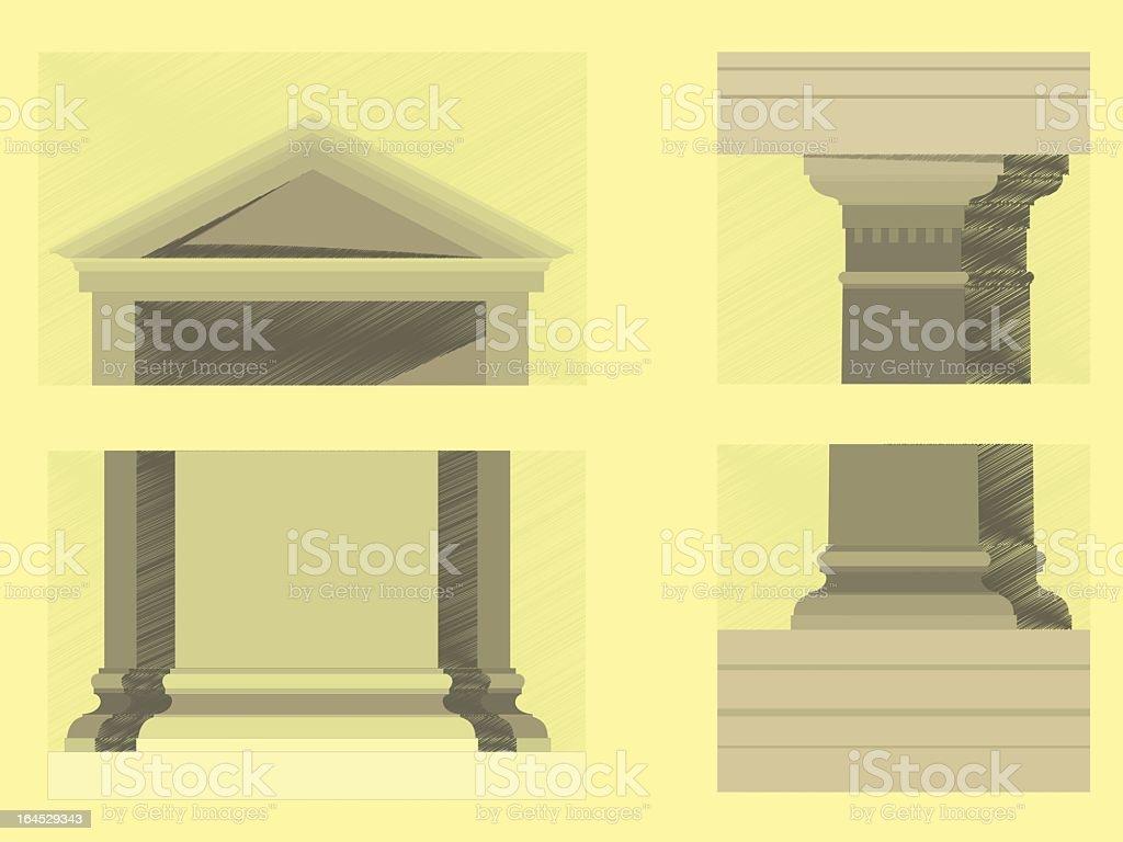 Doric Order royalty-free stock vector art