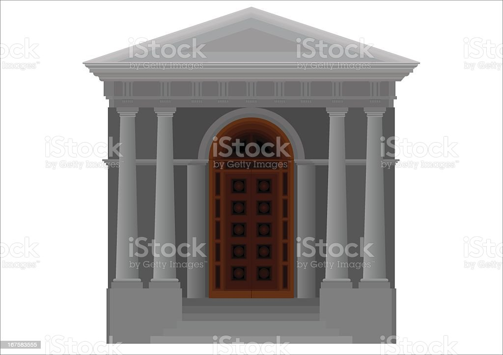 Doric temple royalty-free stock vector art