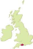 UK Dorset map