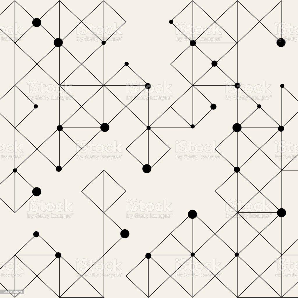 dot and line pattern background vector art illustration