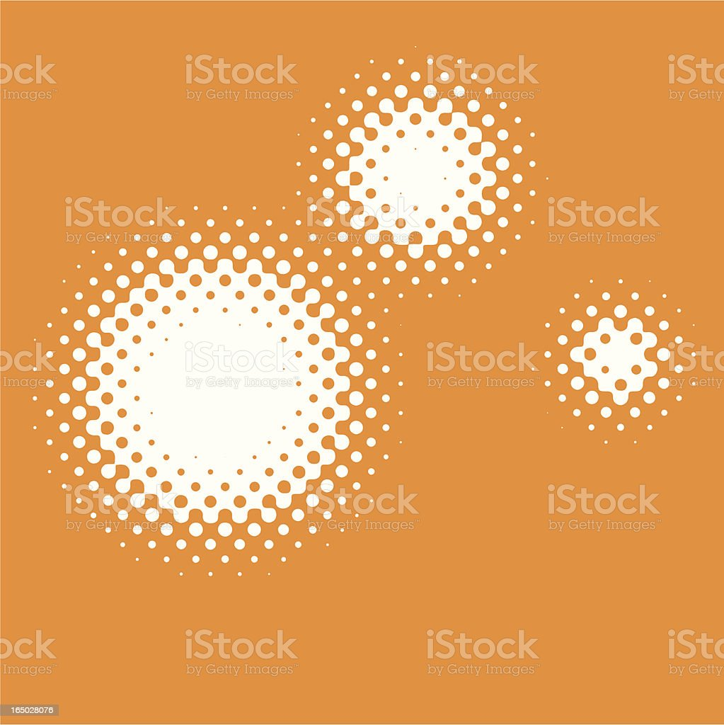 dot gain circles royalty-free stock vector art