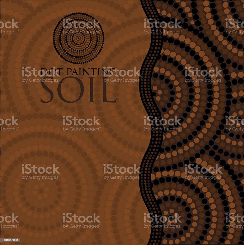 Dot painting invite/ greeting card in vector format. vector art illustration