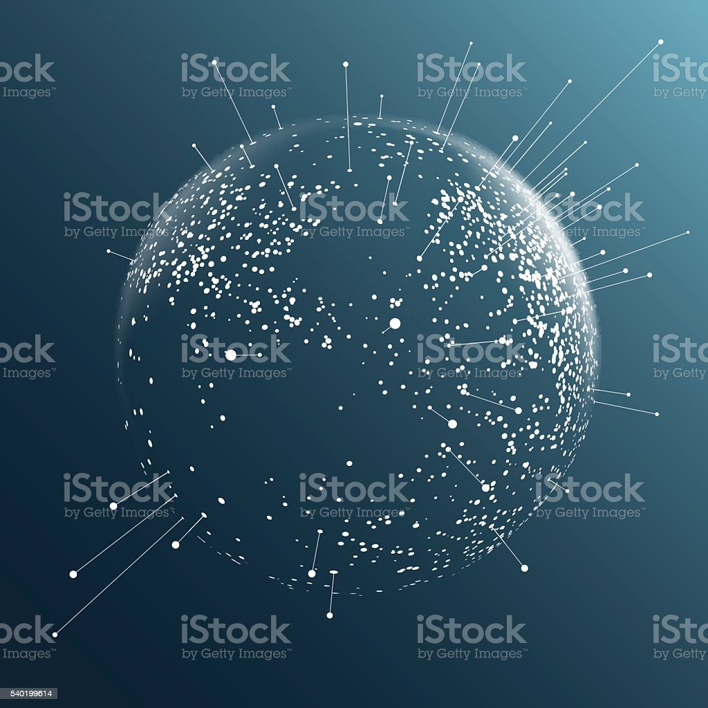 Dot sphere effect vector art illustration