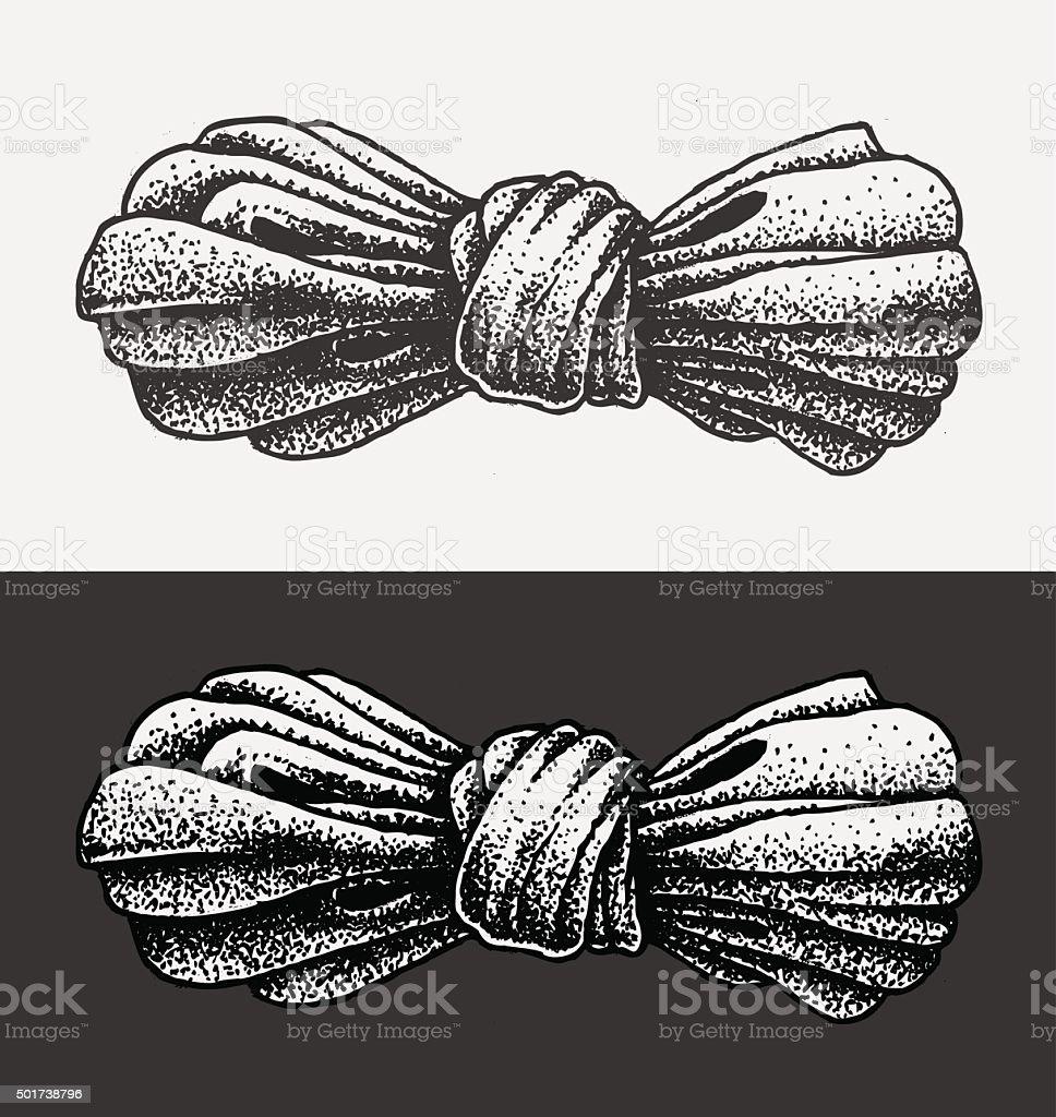 Dot Work Illustration Bow vector art illustration