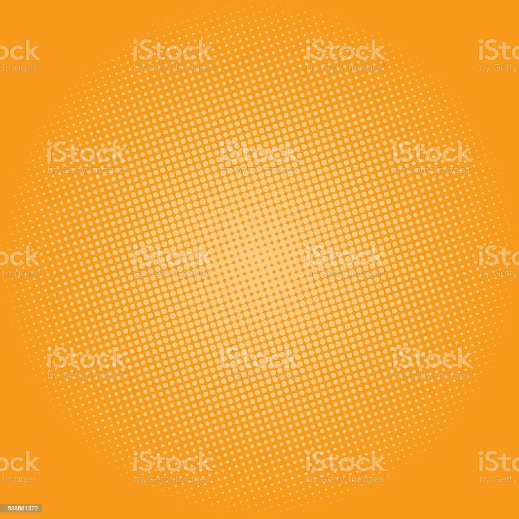 Dots on Yellow Background, Pop Art Background vector art illustration