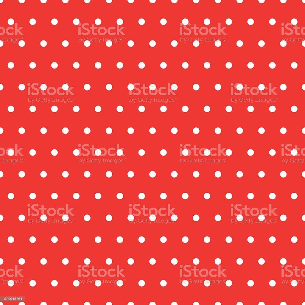 Dots Red Pattern vector art illustration
