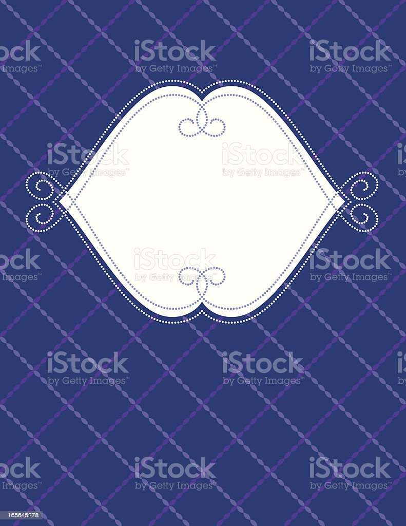 Dotted frame with crisscross background royalty-free stock vector art