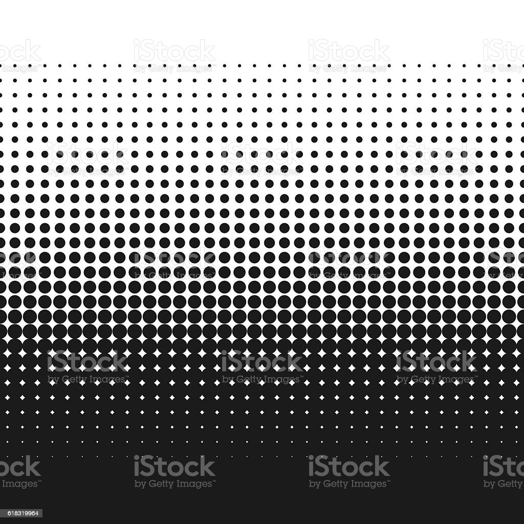 Dotted gradient vector illustration, retro halftone dots texture backdrop vector art illustration