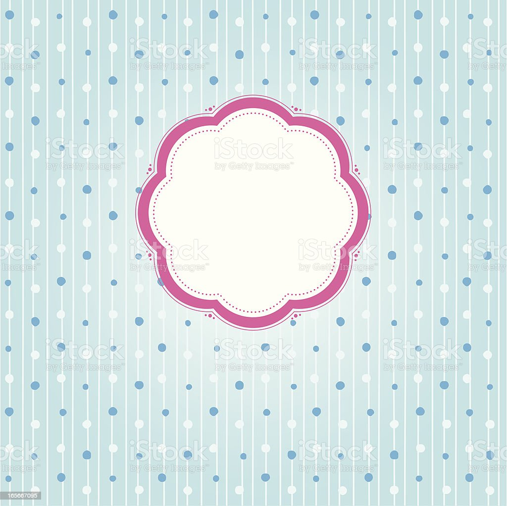 Dotted Label and background vector art illustration