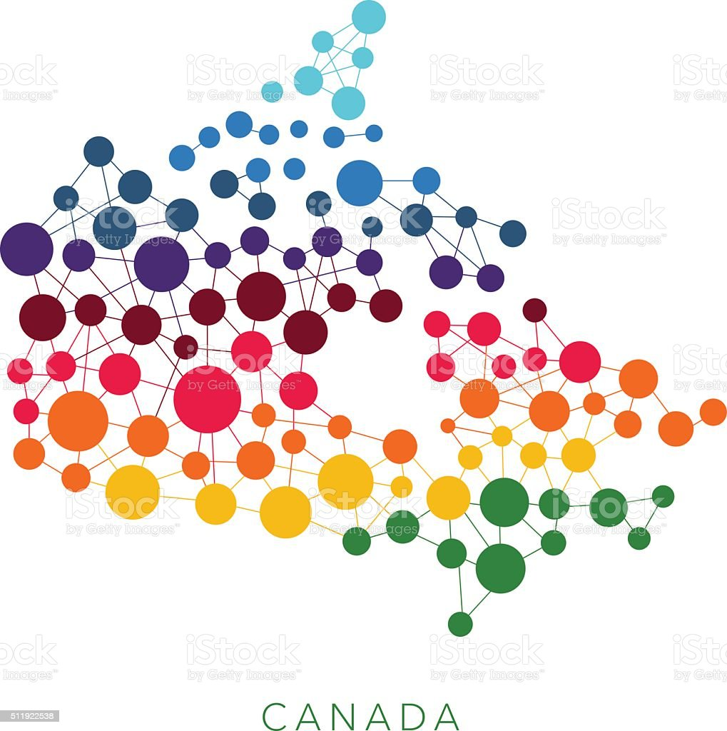 dotted texture Canada vector background vector art illustration
