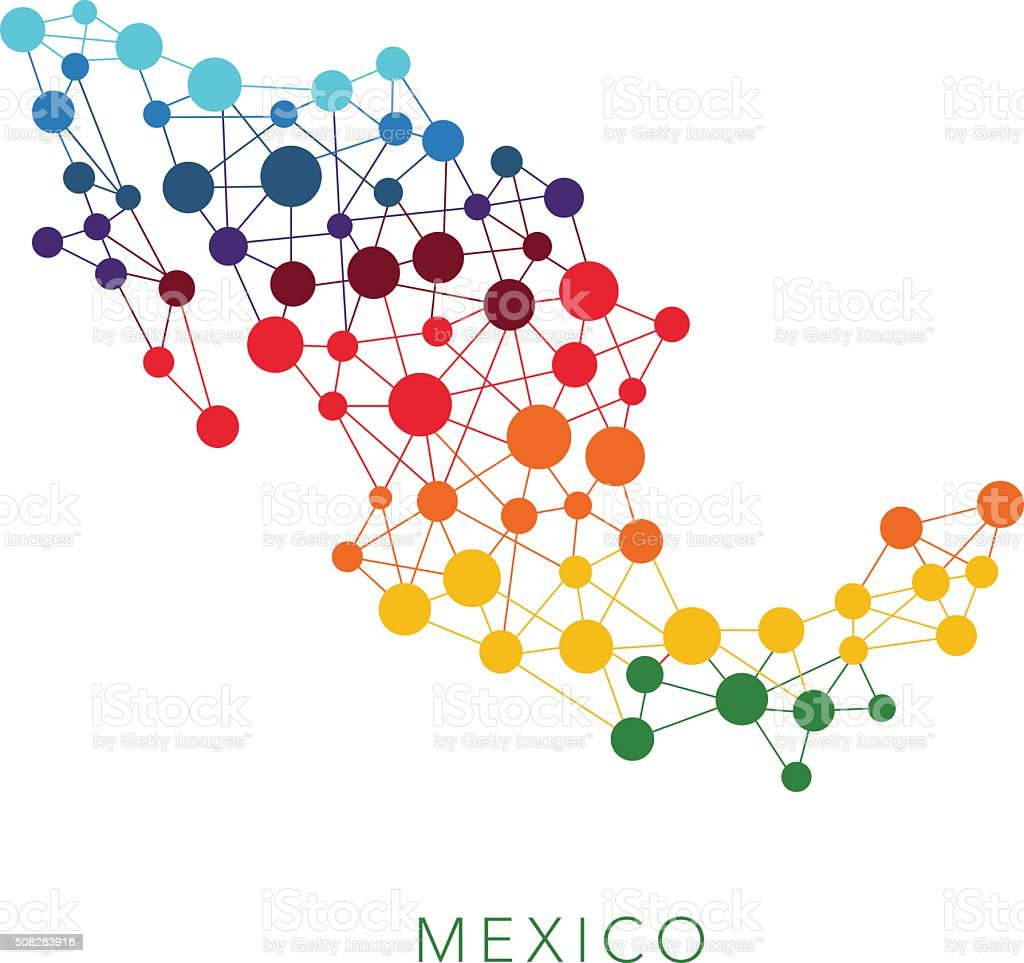 dotted texture Mexico vector background vector art illustration