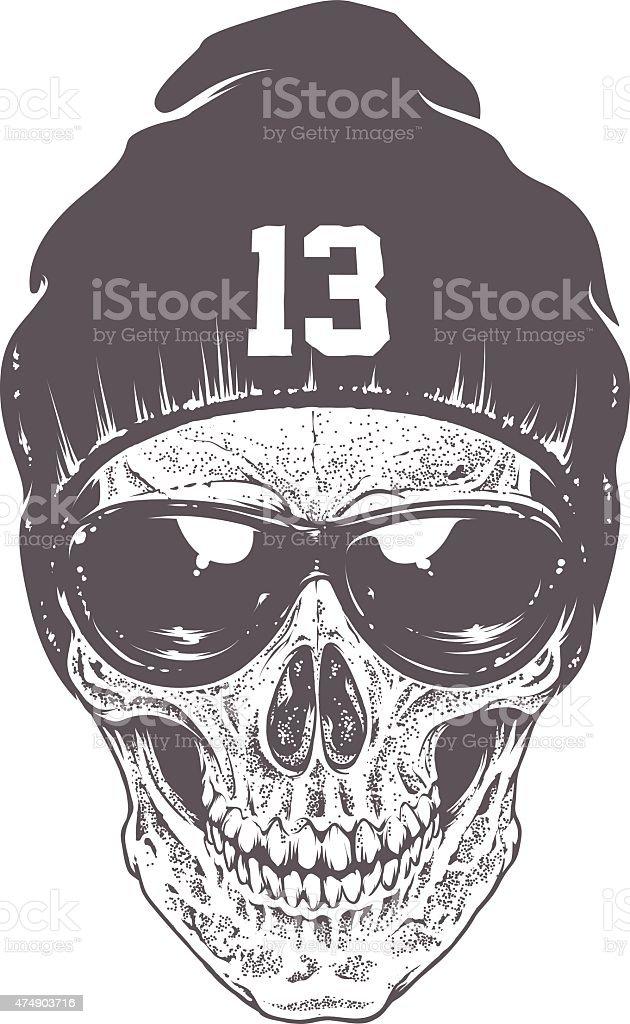 Dotwork skull Art vector art illustration