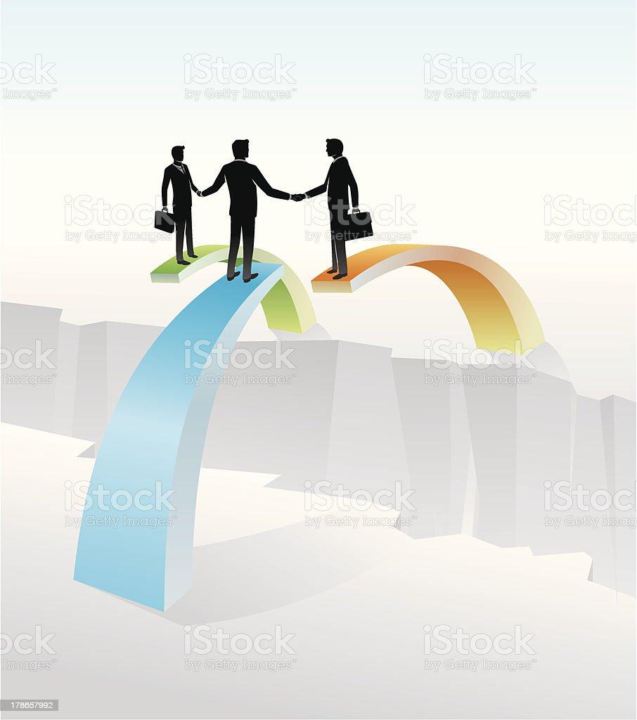 Double Business Deal vector art illustration