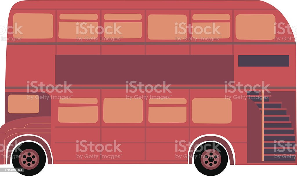 double decker bus vector art illustration
