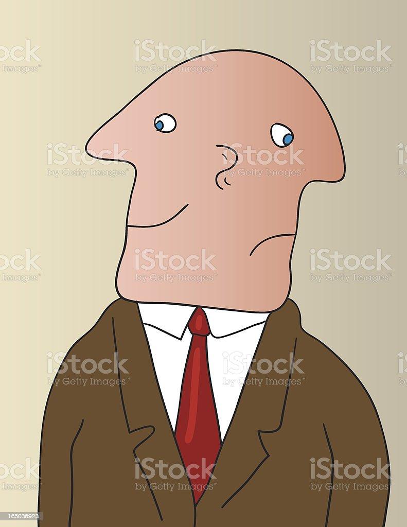 double faced man vector art illustration