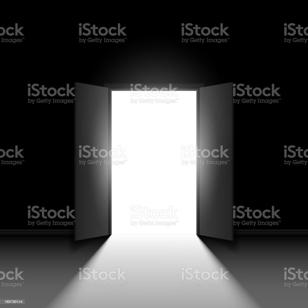 Double open door royalty-free stock vector art