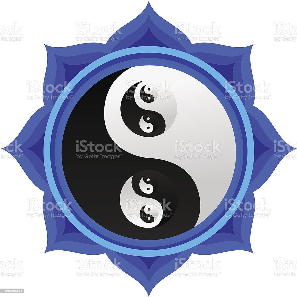 Double Yin Yang Mandala royalty-free stock vector art