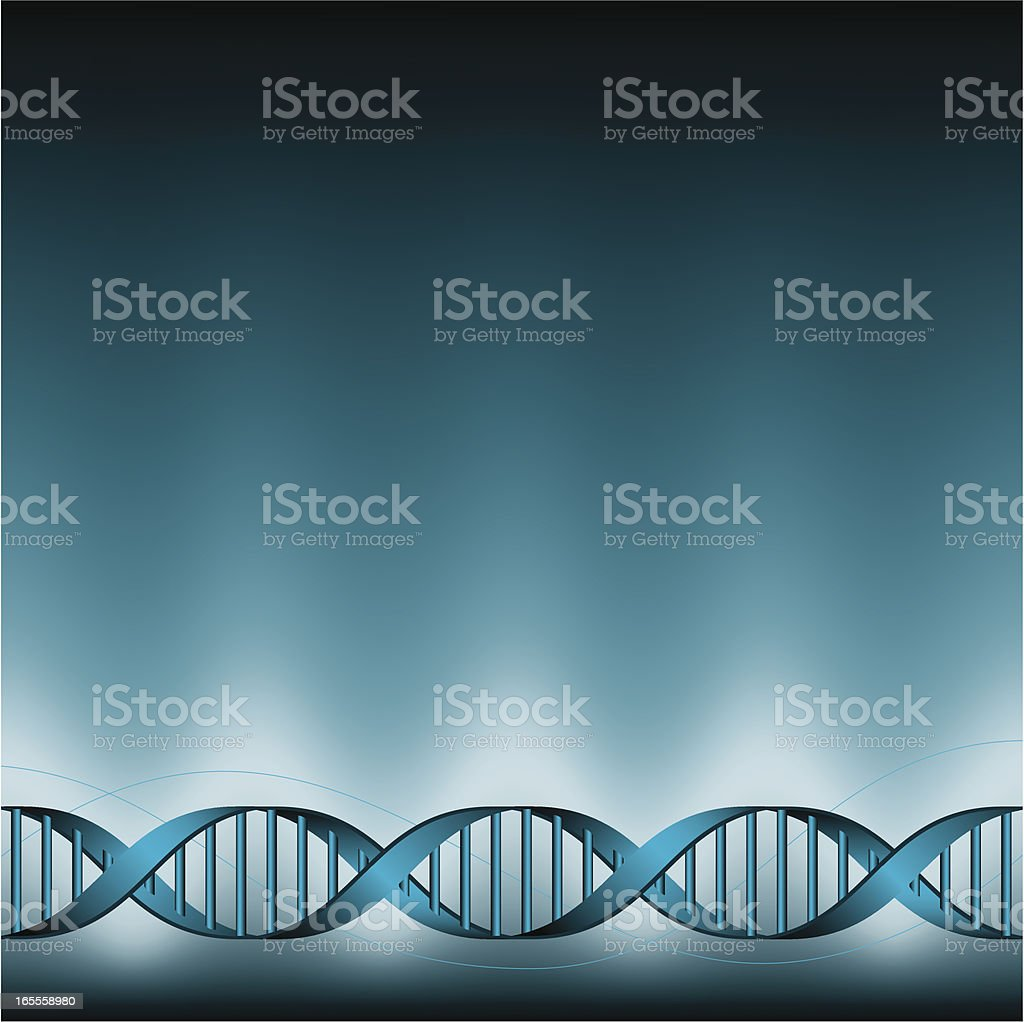 DNA double-helix background royalty-free stock vector art